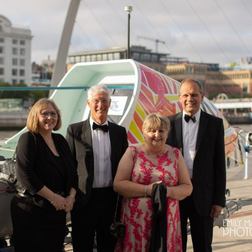 Team Tyne Innovation Charity Party - June 2018 Julie & Steven Leigh with Debbie & Andy Abraham